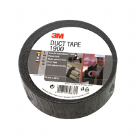3M 1900 Duct Tape 1900 Black 50mm (2in) x 50m